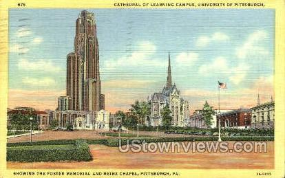 Cathedral of Learning - Pittsburgh, Pennsylvania PA Postcard