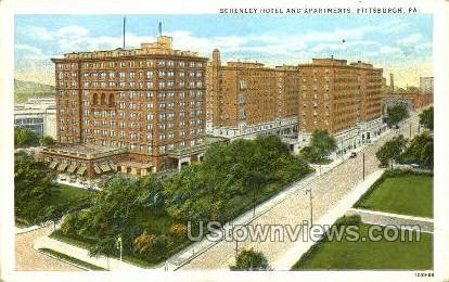 Schenley Hotel & Apts. - Pittsburgh, Pennsylvania PA Postcard