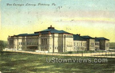 New Carnegie Library - Pittsburgh, Pennsylvania PA Postcard