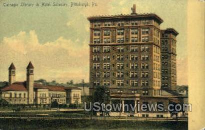 Carbegie Library & Hotel Schenley - Pittsburgh, Pennsylvania PA Postcard