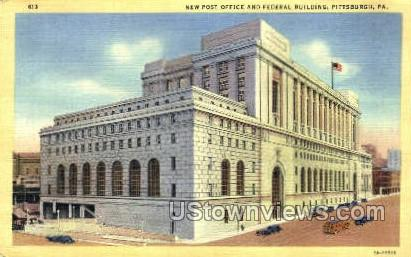 Post Office & Federal Bldg. - Pittsburgh, Pennsylvania PA Postcard