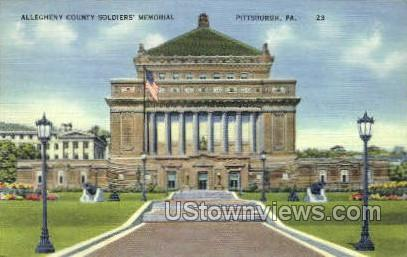 Allegheny County Soldiers' Memorial - Pittsburgh, Pennsylvania PA Postcard