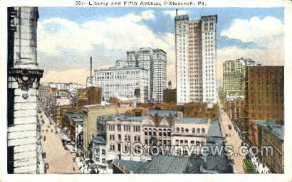 Liberty & Fifth Ave. - Pittsburgh, Pennsylvania PA Postcard