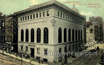 1st National Bank - Pittsburgh, Pennsylvania PA Postcard