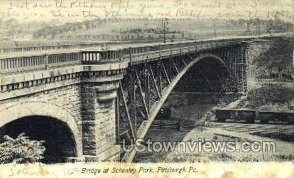 Bridge at Schenley Park - Pittsburgh, Pennsylvania PA Postcard