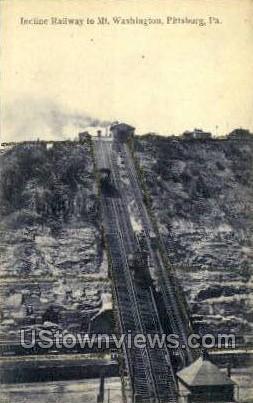 Incline Railway to Mt. Washington - Pittsburgh, Pennsylvania PA Postcard