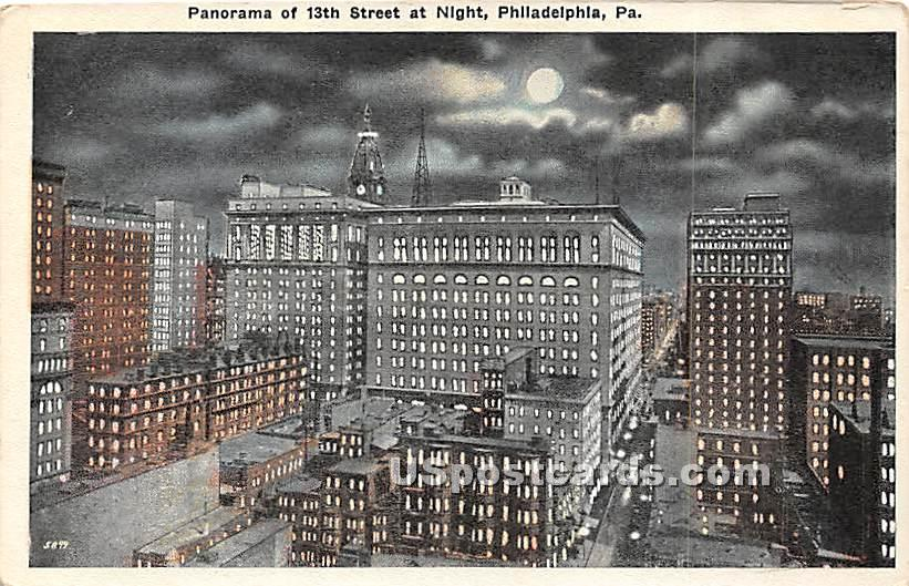 13th Street - Philadelphia, Pennsylvania PA Postcard