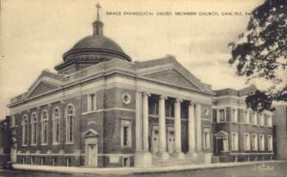 Grace Evangelical United Brethren Church - Carlisle, Pennsylvania PA Postcard