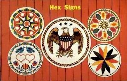 Hex Signs - Misc, Pennsylvania PA Postcard
