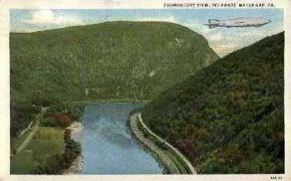 Promontory View - Delaware Water Gap, Pennsylvania PA Postcard