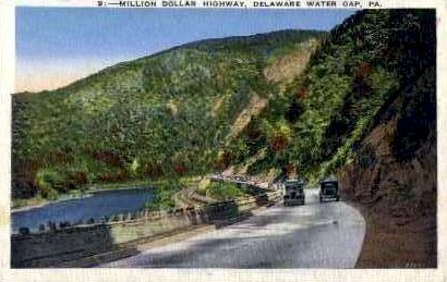 Million Dollar Highway - Delaware Water Gap, Pennsylvania PA Postcard