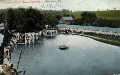 Dorney Park Swimming Pool - Allentown, Pennsylvania PA Postcard