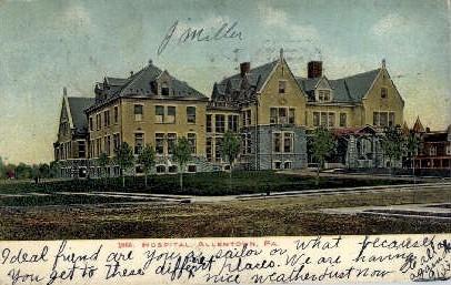 Hospital - Allentown, Pennsylvania PA Postcard
