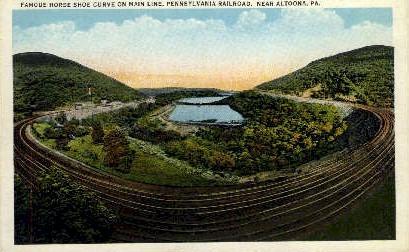 Horse Shoe Curve - Altoona, Pennsylvania PA Postcard