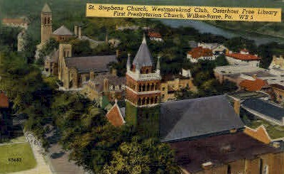 St. Stephens Church - Wilkes-Barre, Pennsylvania PA Postcard
