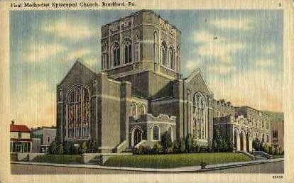 First Methodist Episcopal Church - Bradford, Pennsylvania PA Postcard