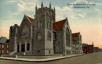 First Presbyterian Church - Johnstown, Pennsylvania PA Postcard