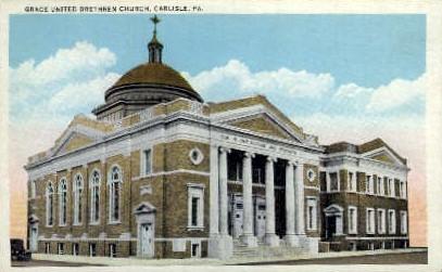 Grace United Brethren Chruch - Carlisle, Pennsylvania PA Postcard