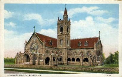 Episcopal Church - Ambler, Pennsylvania PA Postcard