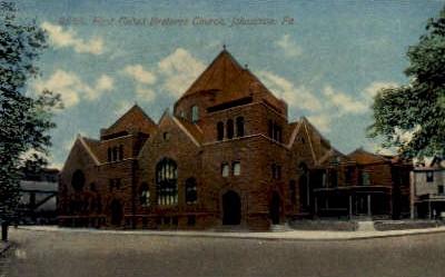 First United Brethren Church  - Johnstown, Pennsylvania PA Postcard