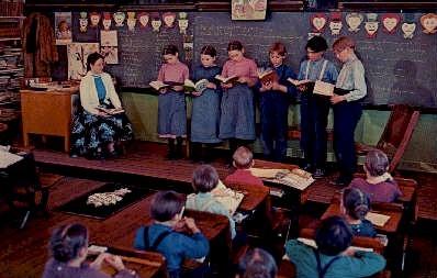 One Room School - Misc, Pennsylvania PA Postcard