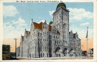 Boys' Central High School  - Philadelphia, Pennsylvania PA Postcard