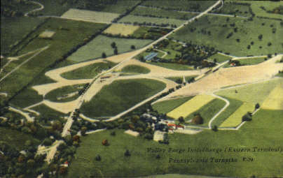 Valley Forge Interchange  - Misc, Pennsylvania PA Postcard