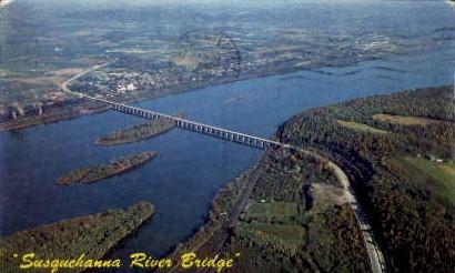 Susquehanna River Bridge  - Misc, Pennsylvania PA Postcard