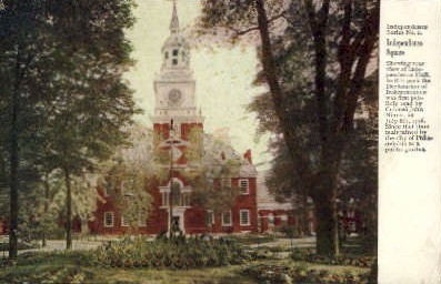 Independence Square  - Misc, Pennsylvania PA Postcard