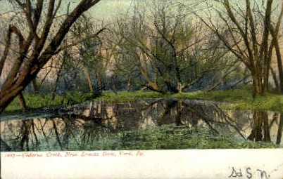 Codorus Creek, Near Laucks Dam - York, Pennsylvania PA Postcard