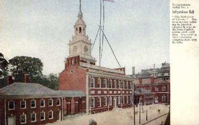 Independence Hall  - Misc, Pennsylvania PA Postcard