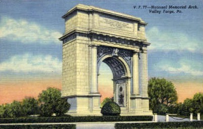 National Memorial Arch  - Valley Forge, Pennsylvania PA Postcard