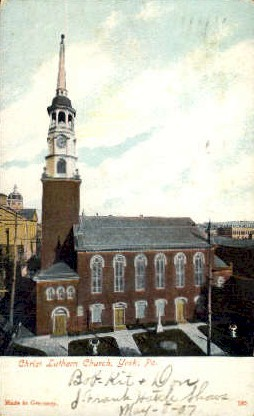 Christ Luthern Church  - York, Pennsylvania PA Postcard