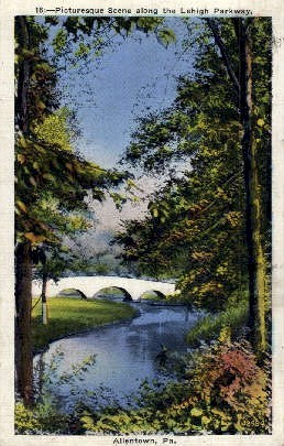 Lehigh Parkway  - Allentown, Pennsylvania PA Postcard