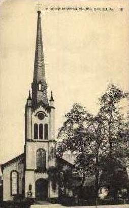 St. Johns Episcopal Church  - Carlisle, Pennsylvania PA Postcard