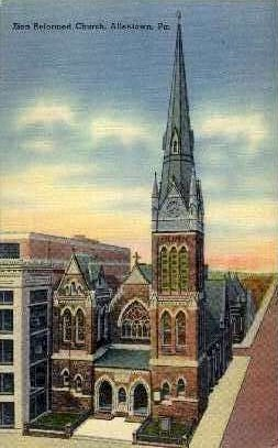 Zion Reformed Church  - Allentown, Pennsylvania PA Postcard