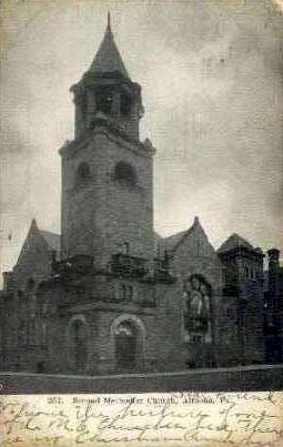 Second Methodist Church - Altoona, Pennsylvania PA Postcard