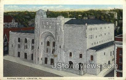 Masonic Temple - Scranton, Pennsylvania PA Postcard