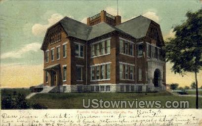 Franklin High School - Carlisle, Pennsylvania PA Postcard