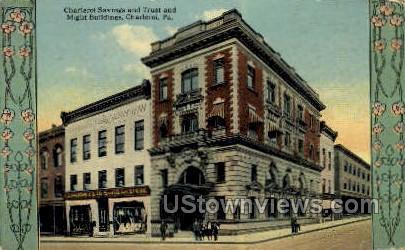 Charleroi Savings Trust & Might Bldg. - Pennsylvania PA Postcard