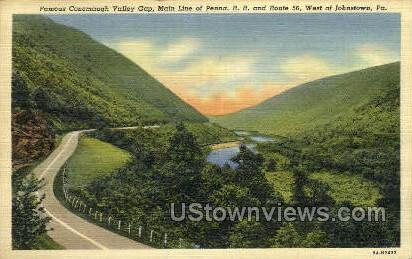 Conemaugh Valley Gap - Johnstown, Pennsylvania PA Postcard