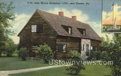 John Morton Birthplace, 1725 - Chester, Pennsylvania PA Postcard