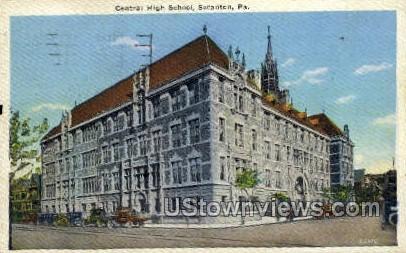 Central High School, Scranton - Pennsylvania PA Postcard