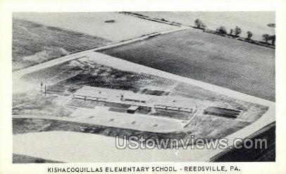Kishavoquillas Elementary School - Reedsville, Pennsylvania PA Postcard