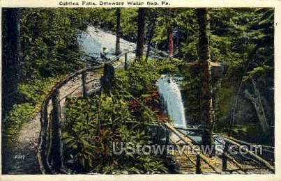 Caldina Falls - Delaware Water Gap, Pennsylvania PA Postcard