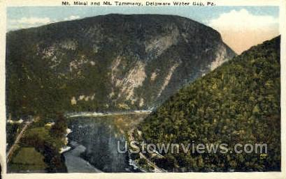 Mt. Minse & Mt. Tammany - Delaware Water Gap, Pennsylvania PA Postcard