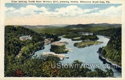 Winona Cliff - Delaware Water Gap, Pennsylvania PA Postcard