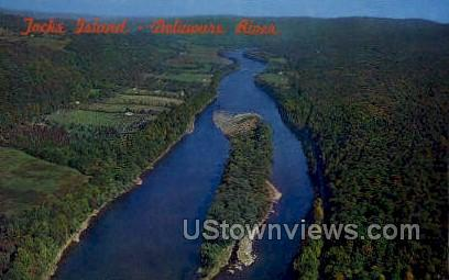 Tocks Island - Delaware Water Gap, Pennsylvania PA Postcard