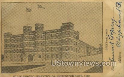 State Armory, Eisteddfod Fawr, 1908 - Scranton, Pennsylvania PA Postcard