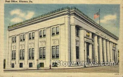 Post Office, Altoona - Pennsylvania PA Postcard